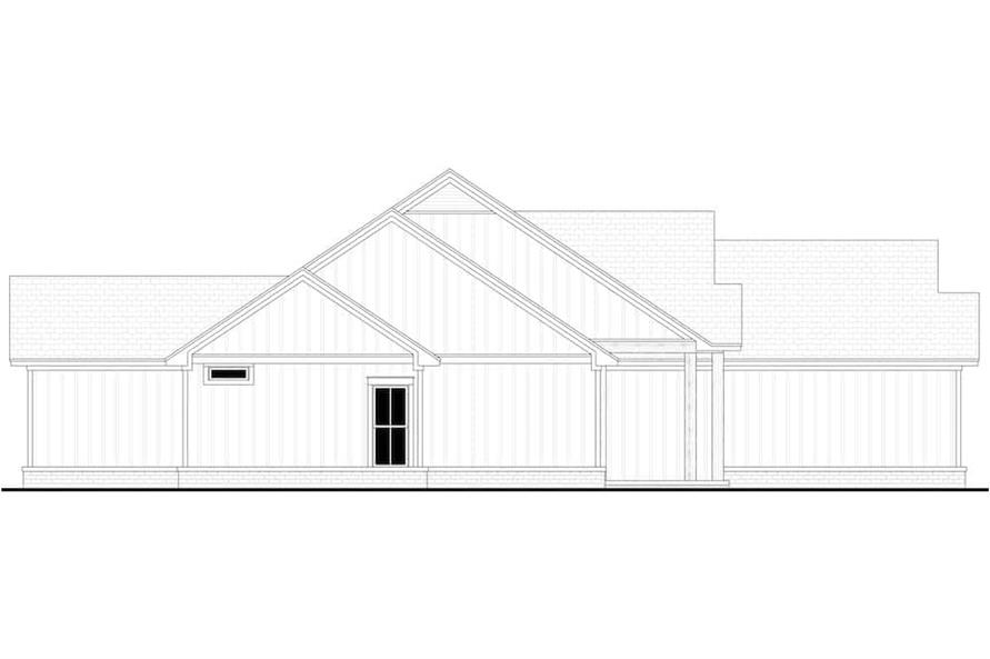 Home Plan Left Elevation of this 4-Bedroom,1992 Sq Ft Plan -142-1241