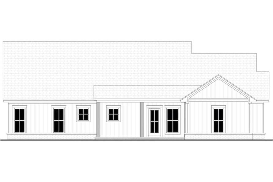 Home Plan Rear Elevation of this 4-Bedroom,1992 Sq Ft Plan -142-1241