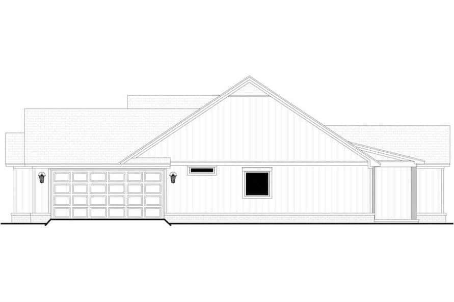 Home Plan Right Elevation of this 4-Bedroom,1992 Sq Ft Plan -142-1241