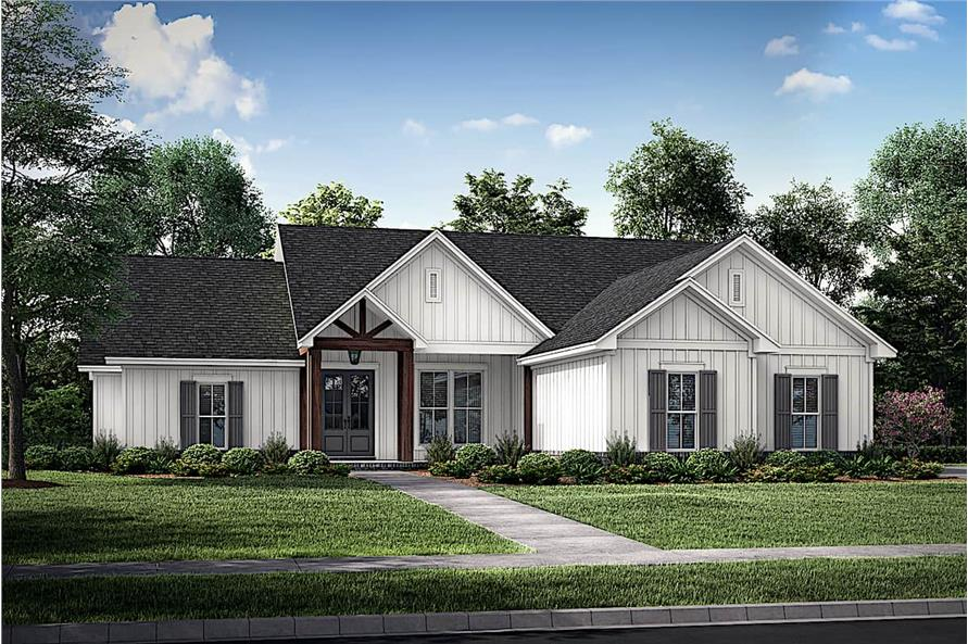 4-Bedroom, 1992 Sq Ft Contemporary Home - Plan #142-1241 - Main Exterior