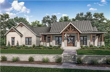 3-Bedroom, 2454 Sq Ft Ranch Home - Plan #142-1242 - Main Exterior