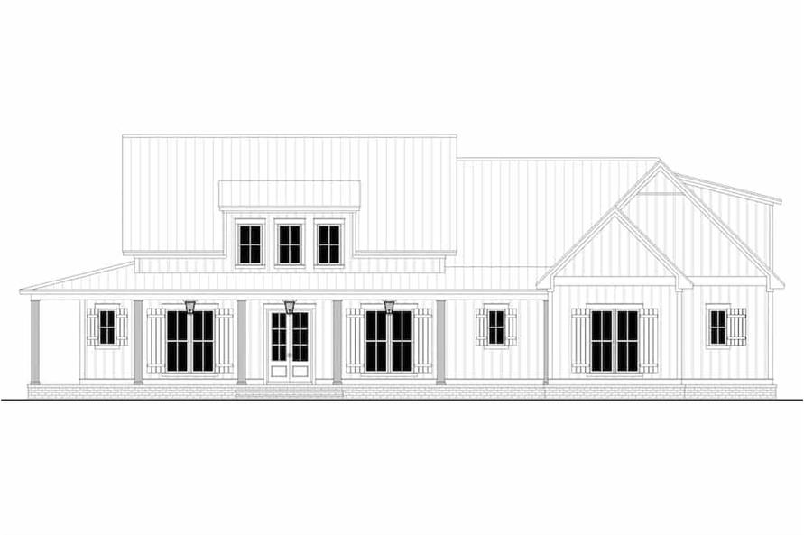 Home Plan Front Elevation of this 3-Bedroom,2395 Sq Ft Plan -142-1243