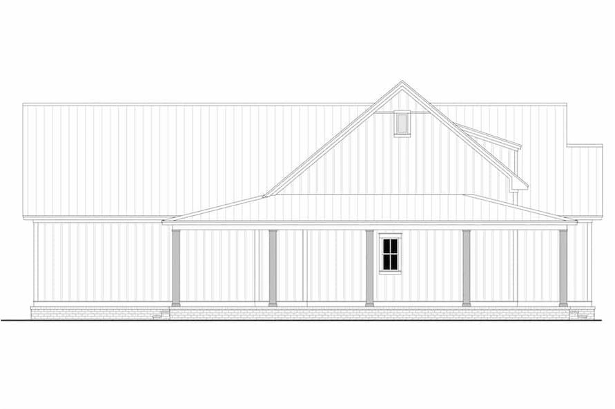 Home Plan Left Elevation of this 3-Bedroom,2395 Sq Ft Plan -142-1243