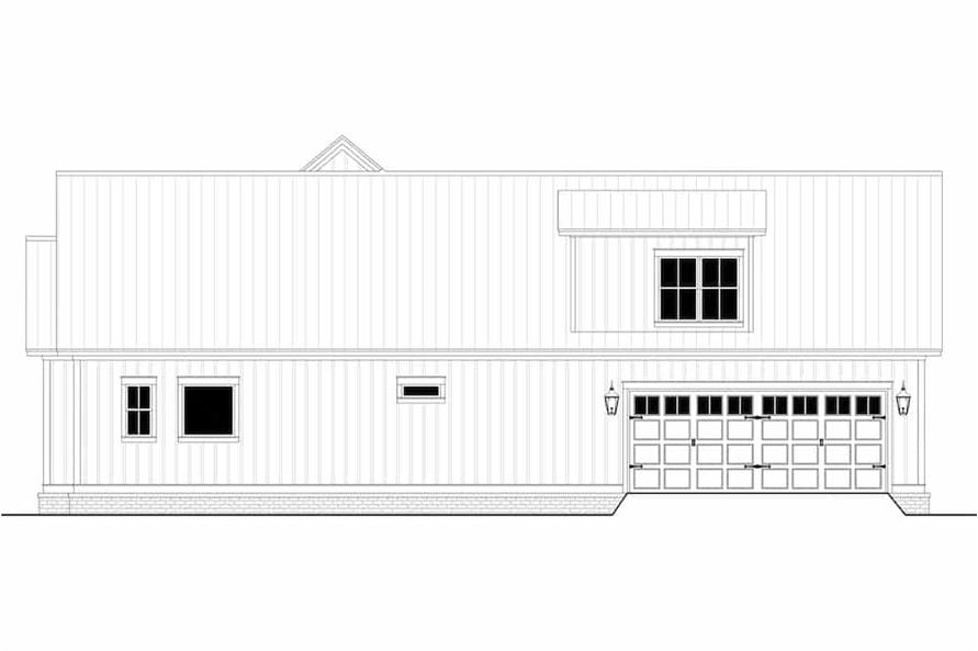 Home Plan Right Elevation of this 3-Bedroom,2395 Sq Ft Plan -142-1243