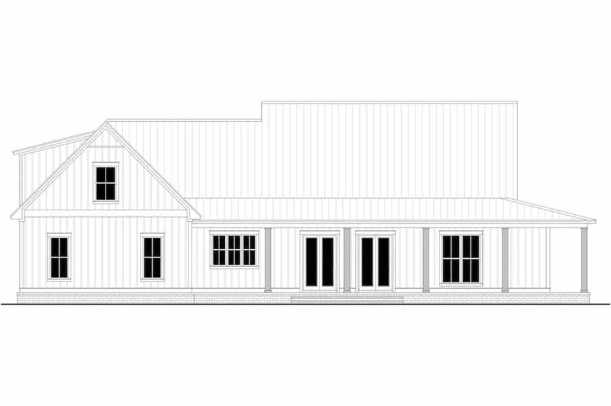 Home Plan Rear Elevation of this 3-Bedroom,2395 Sq Ft Plan -142-1243