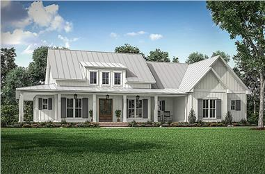 3-Bedroom, 2395 Sq Ft Farmhouse Home - Plan #142-1243 - Main Exterior