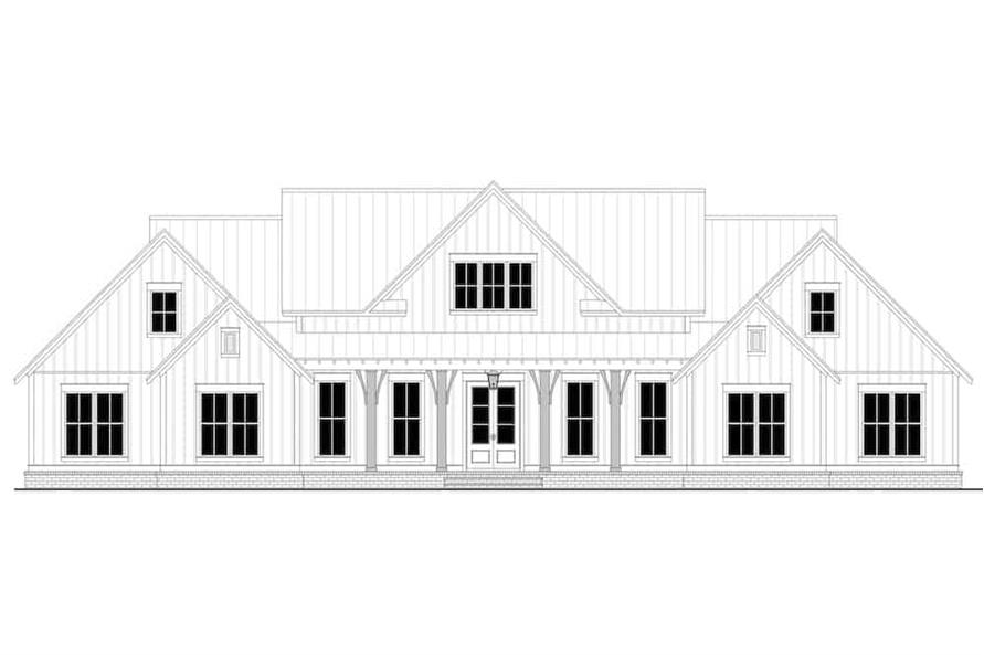 Home Plan Front Elevation of this 4-Bedroom,3086 Sq Ft Plan -142-1244