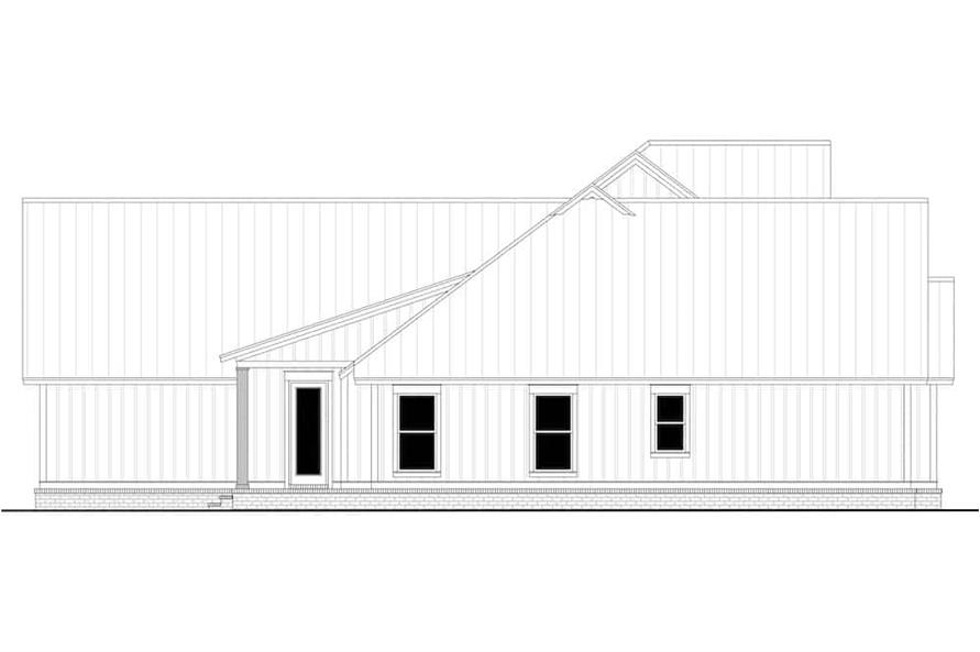 Home Plan Left Elevation of this 4-Bedroom,3086 Sq Ft Plan -142-1244