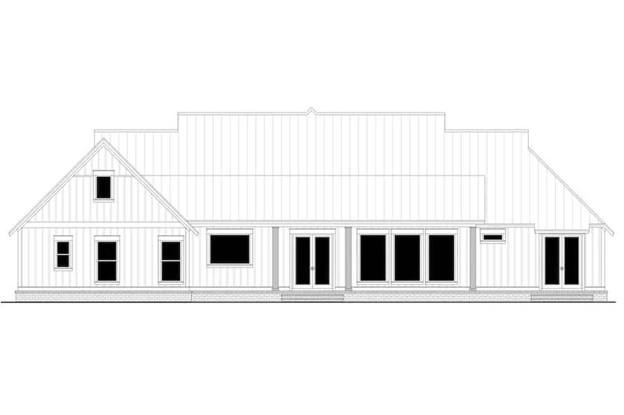 Home Plan Rear Elevation of this 4-Bedroom,3086 Sq Ft Plan -142-1244