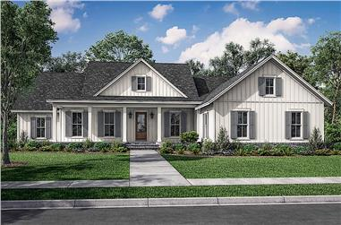 4-Bedroom, 2607 Sq Ft Farmhouse Home - Plan #142-1245 - Front Exterior