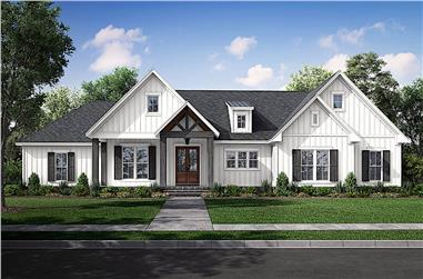 3-Bedroom, 2249 Sq Ft Contemporary Home - Plan #142-1246 - Main Exterior