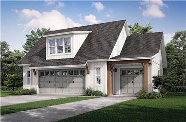 0-Bedroom, 512 Sq Ft Garage Plan #142-1248 - Main Exterior