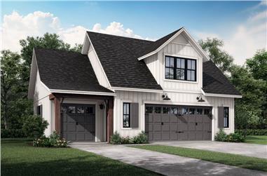 1-Bedroom, 522 Sq Ft Garage Plan #142-1249 - Main Exterior