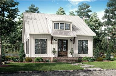 2-Bedroom, 1070 Sq Ft Contemporary Home Plan - 142-1250 - Main Exterior