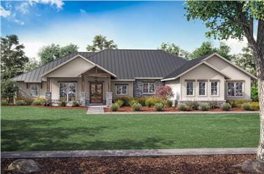 3-Bedroom, 2974 Sq Ft Ranch Home Plan - 142-1253 - Main Exterior