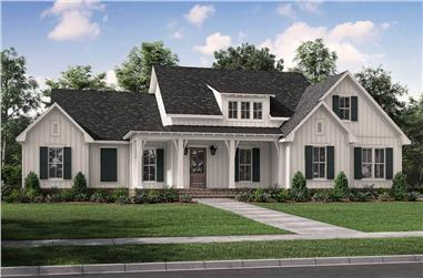 3-Bedroom, 2431 Sq Ft Contemporary House Plan - 142-1254 - Front Exterior