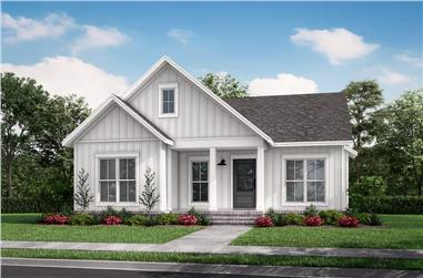 2-Bedroom, 1254 Sq Ft Contemporary House - Plan #142-1255 - Front Exterior