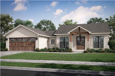 3-Bedroom, 1599 Sq Ft Contemporary House - Plan #142-1256 - Front Exterior