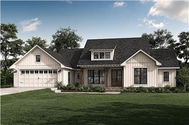 3-Bedroom, 2020 Sq Ft Modern Farmhouse House - Plan #142-1257 - Front Exterior