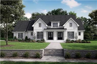 3-Bedroom, 2668 Sq Ft Modern Farmhouse House - Plan #142-1259 - Front Exterior
