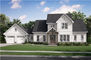 4-Bedroom, 3145 Sq Ft Modern Farmhouse Home - Plan #142-1260 - Main Exterior