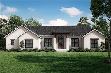3-Bedroom, 1998 Sq Ft Ranch Home - Plan #142-1262 - Main Exterior