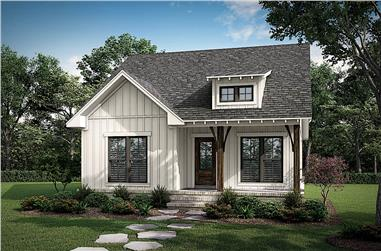 2-Bedroom, 1252 Sq Ft Small House - Plan #142-1263 - Front Exterior