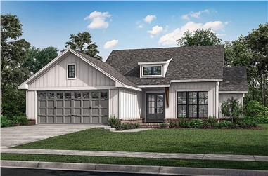 3-Bedroom, 1493 Sq Ft Ranch House - Plan #142-1264 - Front Exterior