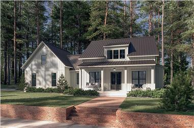 2-Bedroom, 1448 Sq Ft Small House - Plan #142-1265 - Front Exterior