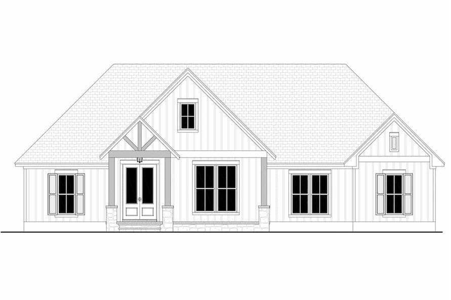 Home Plan Front Elevation of this 3-Bedroom,2243 Sq Ft Plan -142-1266