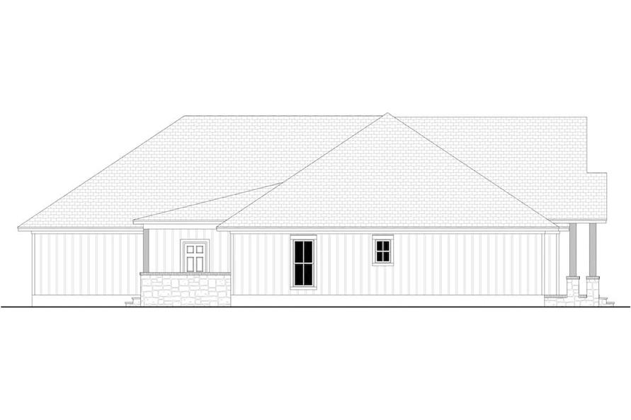 Home Plan Left Elevation of this 3-Bedroom,2243 Sq Ft Plan -142-1266