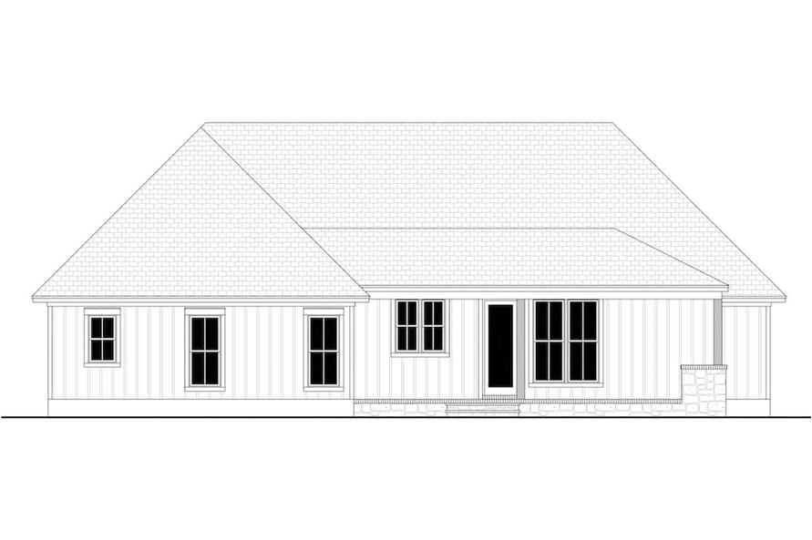 Home Plan Rear Elevation of this 3-Bedroom,2243 Sq Ft Plan -142-1266