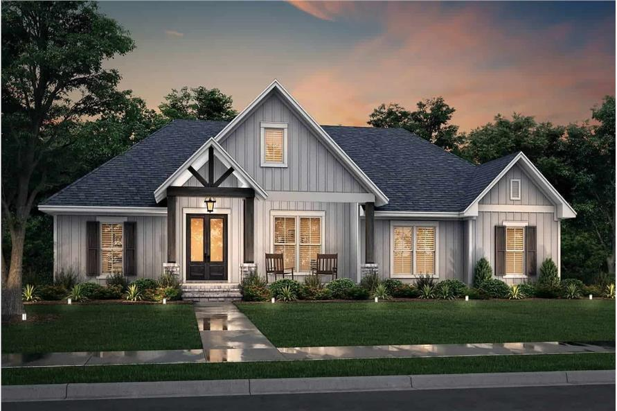 Home at Night of this 3-Bedroom,2243 Sq Ft Plan -142-1266