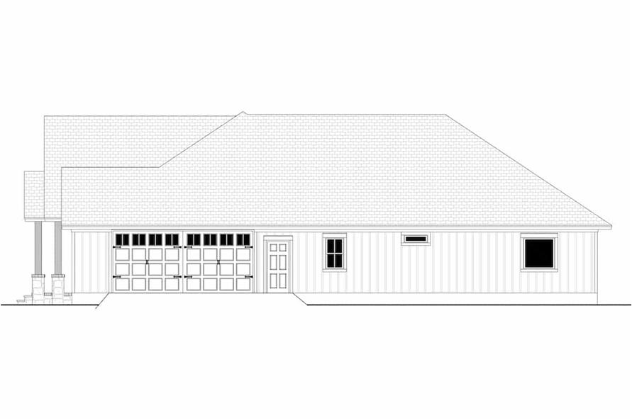 Home Plan Right Elevation of this 3-Bedroom,2243 Sq Ft Plan -142-1266