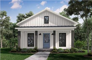 1-Bedroom, 732 Sq Ft Cottage House - Plan #142-1268 - Front Exterior