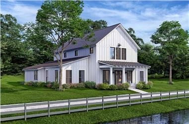 4-Bedroom, 2392 Sq Ft Barn Style House - Plan #142-1269 - Front Exterior