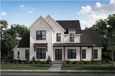 4-Bedroom, 3216 Sq Ft Modern Farmhouse Home - Plan #142-1270 - Front Exterior