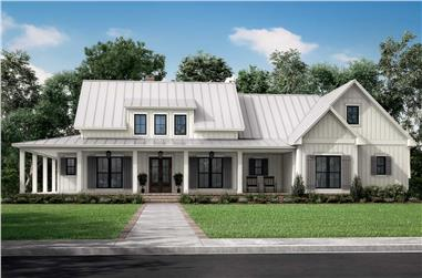 3-Bedroom, 2428 Sq Ft Contemporary Home Plan - 142-1272 - Main Exterior