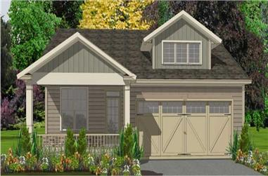 3-Bedroom, 1858 Sq Ft Ranch House Plan - 144-1000 - Front Exterior