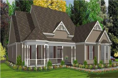5-Bedroom, 2491 Sq Ft Country Home Plan - 144-1001 - Main Exterior