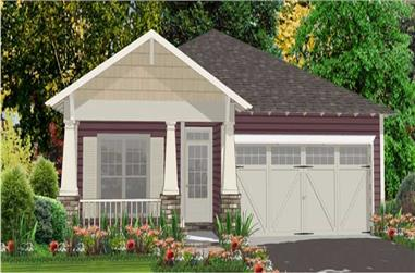 3-Bedroom, 1556 Sq Ft Bungalow Home Plan - 144-1002 - Main Exterior