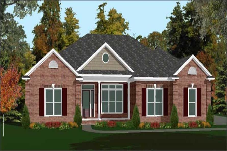 4-Bedroom, 2299 Sq Ft Ranch Home Plan - 144-1003 - Main Exterior