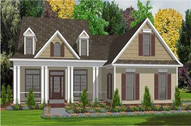5-Bedroom, 2740 Sq Ft Country Home Plan - 144-1004 - Main Exterior