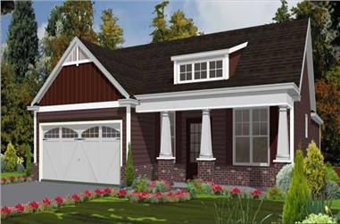 3-Bedroom, 1787 Sq Ft Cape Cod Home Plan - 144-1006 - Main Exterior