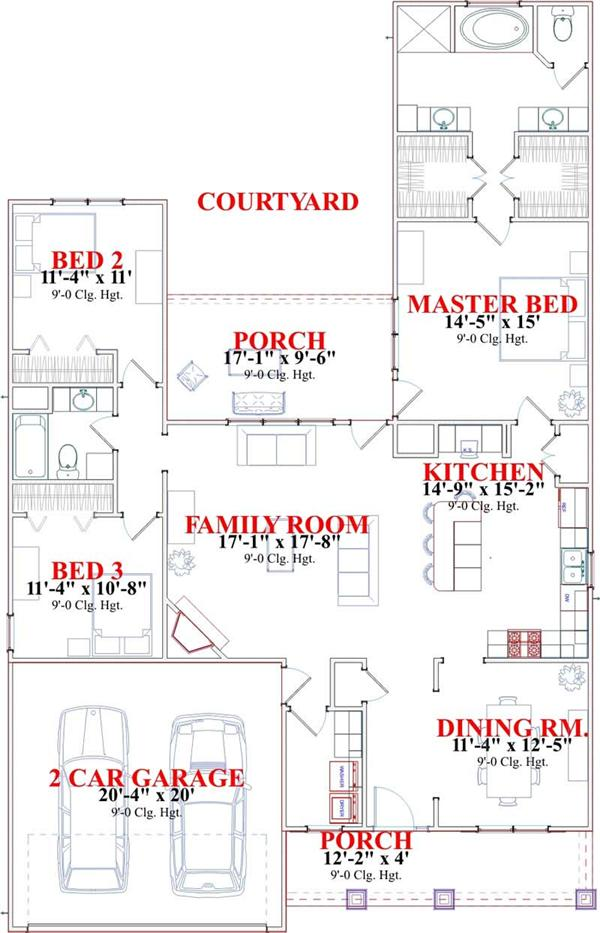 HOME PLAN BATES 2