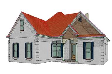 3-Bedroom, 1832 Sq Ft Ranch House Plan - 144-1007 - Front Exterior