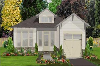 2-Bedroom, 1389 Sq Ft Bungalow Home Plan - 144-1008 - Main Exterior