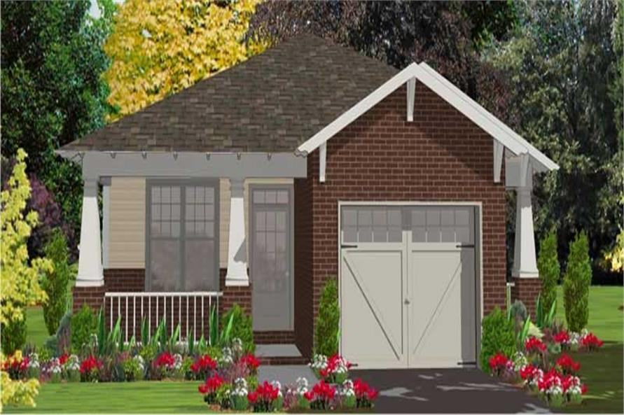 2-Bedroom, 1389 Sq Ft Bungalow House Plan - 144-1009 - Front Exterior