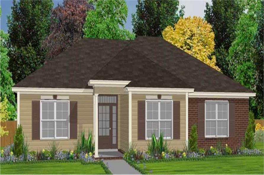 3-Bedroom, 1470 Sq Ft Ranch House Plan - 144-1010 - Front Exterior