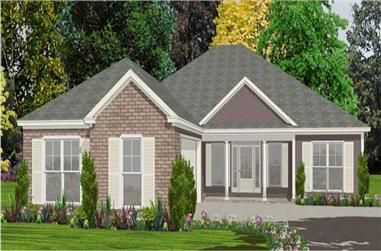 3-Bedroom, 1825 Sq Ft Ranch House Plan - 144-1012 - Front Exterior